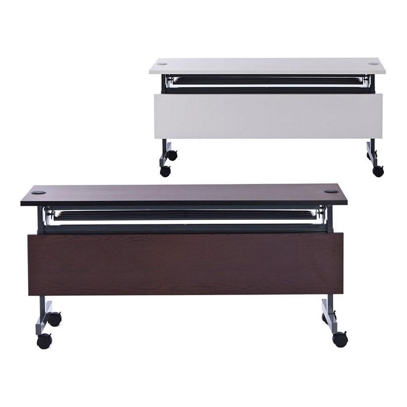 配線機能付きフォールディングテーブル2 幕板付き 幅1500×奥行600×高さ700mm SHFTL-1560