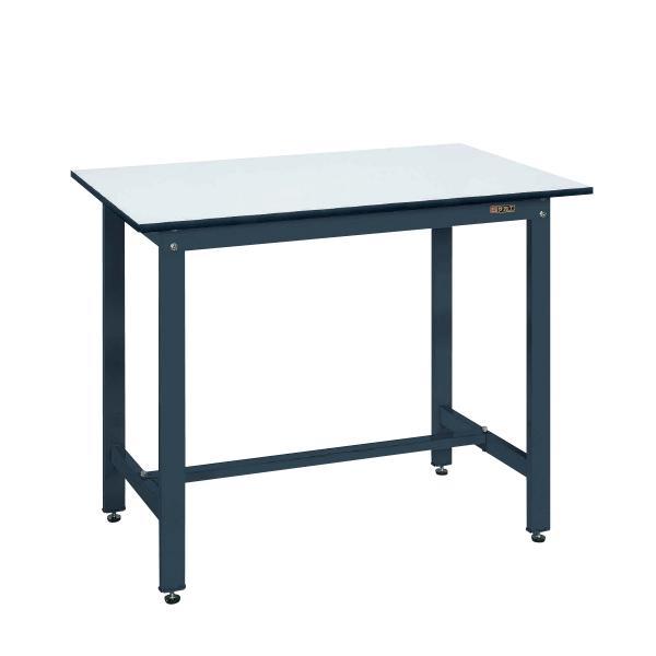 サカエ 軽量作業台 ワークテーブル 立ち作業台 KDタイプ ポリエステル天板 均等耐荷重350kg 幅1200×奥行750×高さ900mm KD-49PD