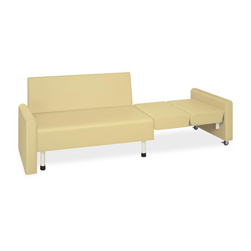 高田ベッド ソファー·チェア TB-1410 クランケット 座位から仰臥位での診察まで ベンチ型ベッド 省スペース カラー(18色)選択可
