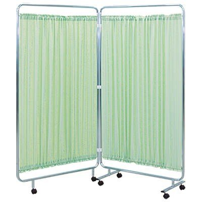 高田ベッド 病院 診察室 スクリーン 衝立 カーテン 仕切り 2連衝立/TB-658