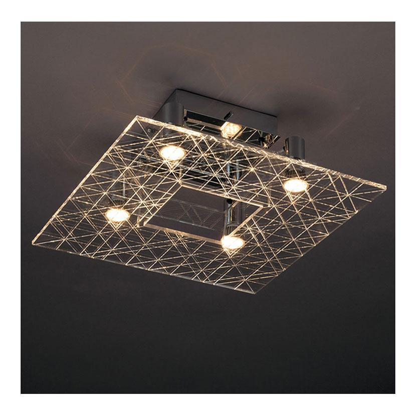 シーリング 屋内シーリングLED LD-2982-L クロームメッキ