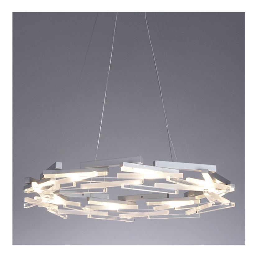 ペンダント 屋内ペンダントLED PD-2567-L 白+シルバー