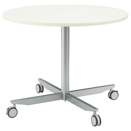 ジョインテックス キャスター付リフレッシュ丸テーブル YR-K900WH
