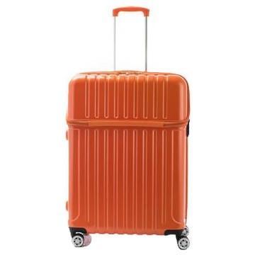 送料無料 協和 ACTUS(アクタス) スーツケース トップオープン トップス Lサイズ ACT-004 オレンジカーボン・74-20336