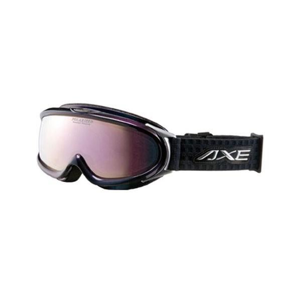 (同梱不可)AXE(アックス) メンズ 大型メガネ対応 偏光ダブルレンズ ゴーグル AX888-WMP BK・オーロラブラック