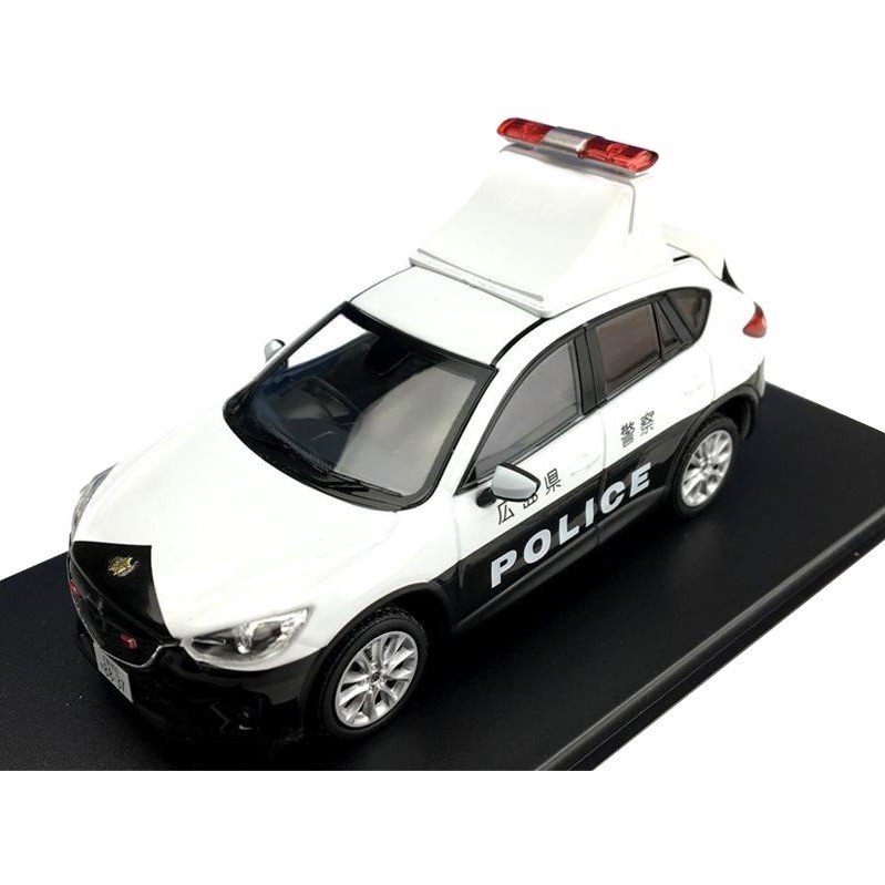 (同梱不可)Premium-X/プレミアムX マツダ CX5 広島県警 LED表示灯付 2013 1/43スケール PRD486 ミニチュア 警察 模型