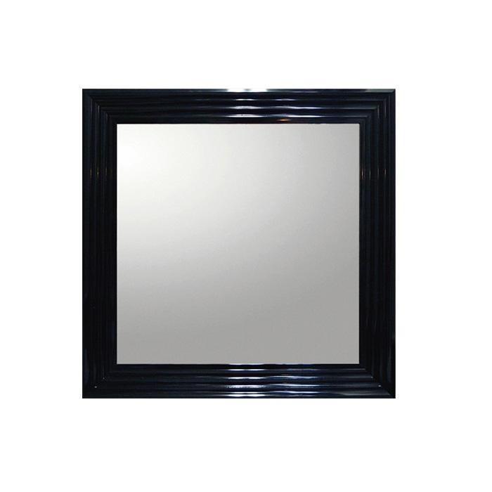 (同梱不可)ユーパワー デコラティブ 大型ミラー シャープ 正方形(ブラック) BM-16021 鏡 インテリア アクセントミラー