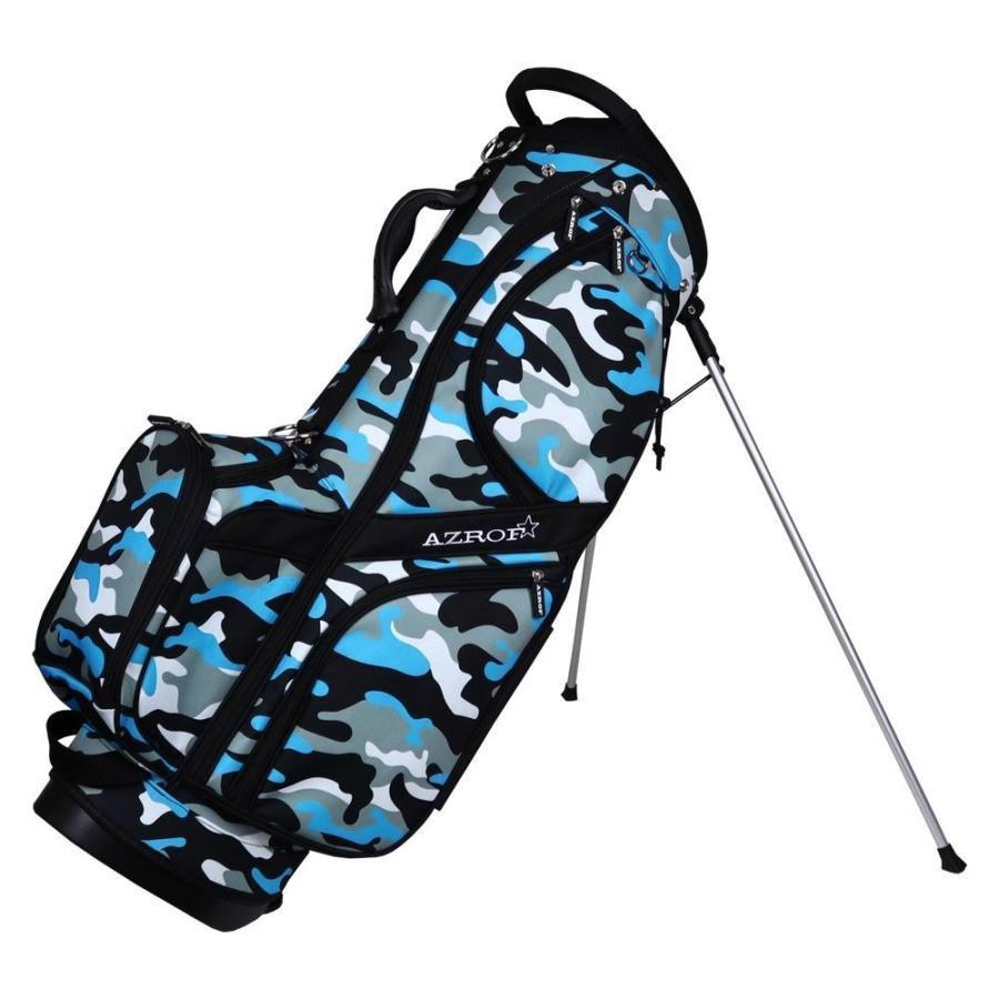 (同梱不可)AZROF(アズロフ) スタンドキャディバッグ ネオカモフラブルー 174 ゴルフ 収納 ゴルフクラブ