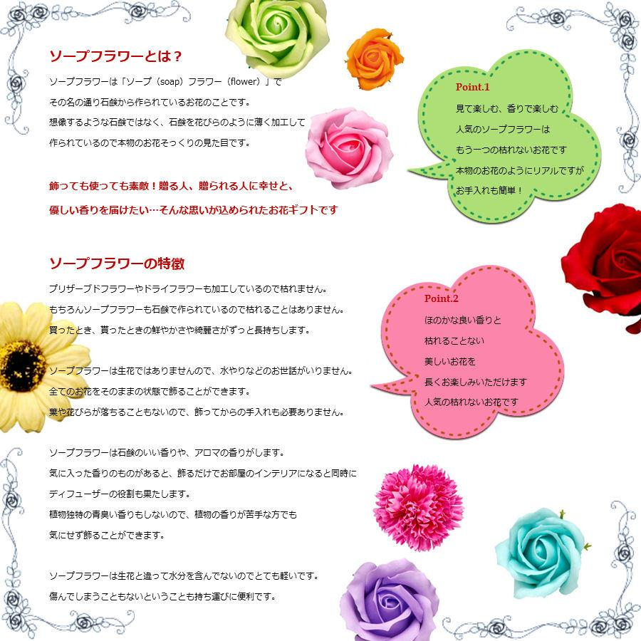 ソープフラワーで贈る魔法の花束Mサイズ⇒Lサイズ無料サイズアップ特典「 プロバンスオレンジ」 あすつく ホワイトデー 母の日 父の日 敬老の日 誕生日|offrir|04