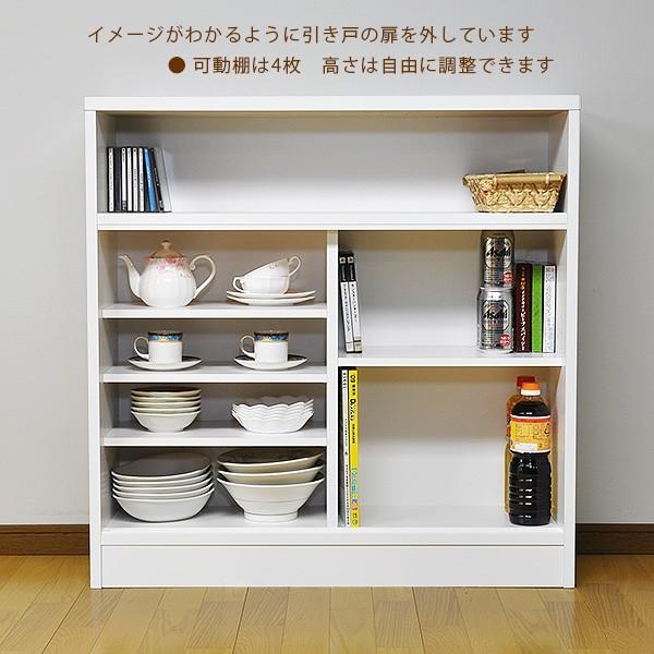 引き戸 カウンター下収納 90タイプ(奥行28.5 高さ90) キッチンカウンター下収納 ogamoku 05