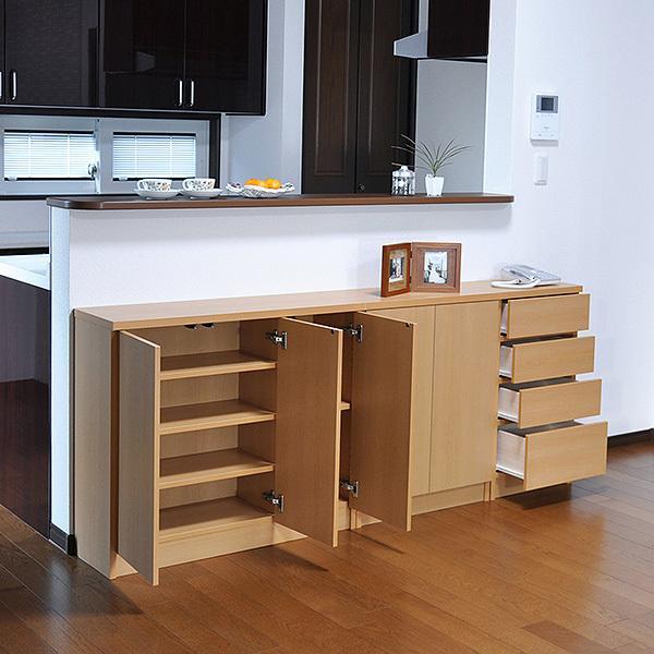 カウンター下収納・プッシュ扉90(高さ80cm) キッチン収納 ogamoku 11