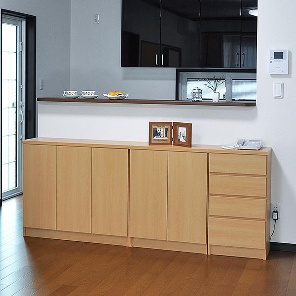 カウンター下収納・プッシュ扉90(高さ80cm) キッチン収納 ogamoku 10