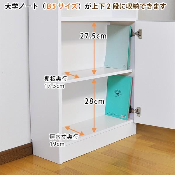 カウンター下収納 薄型 ロータイプ 扉タイプ幅120 高さ80cm キッチン収納 ogamoku 06
