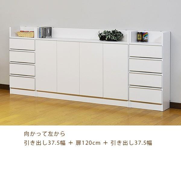 カウンター下収納 薄型 ロータイプ 扉タイプ幅120 高さ80cm キッチン収納 ogamoku 08