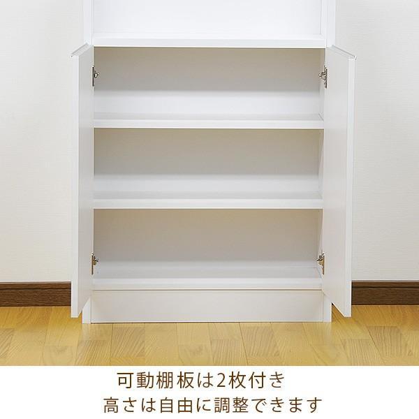 カウンター下収納 薄型 ロータイプ 扉タイプ幅60 高さ80cm キッチン収納 ogamoku 04
