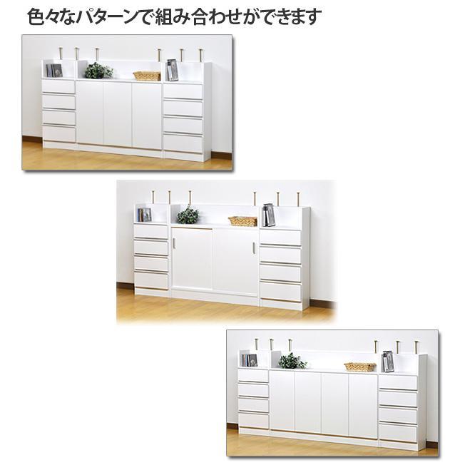 薄型 カウンター下収納 引き戸タイプ ホワイト|ogamoku|10