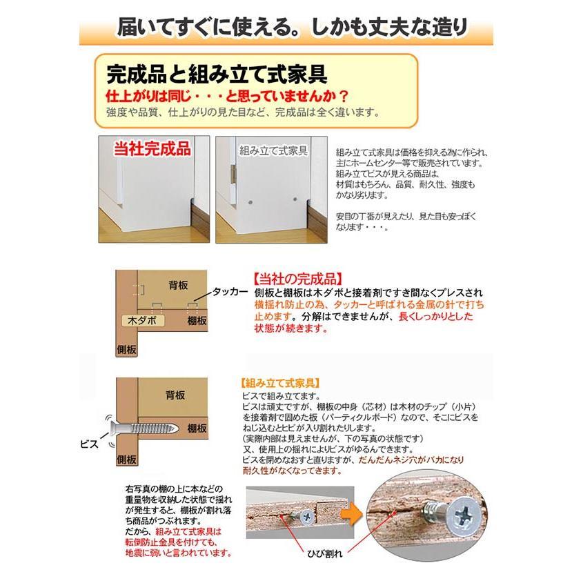 薄型 カウンター下収納 引き戸タイプ ホワイト|ogamoku|11