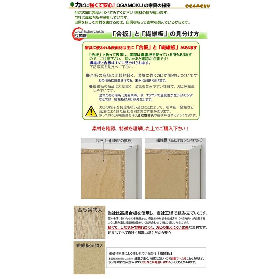 ハイタイプ・スリムカウンター下収納 60(高さ92cm)ホワイト|ogamoku|08