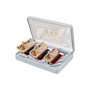 送料無料 黒水牛実印 銀行印 認印 3本セット黒水牛 印鑑ケース付(現在化粧ケースに開運印の文字は入っておりません)|ogawahan