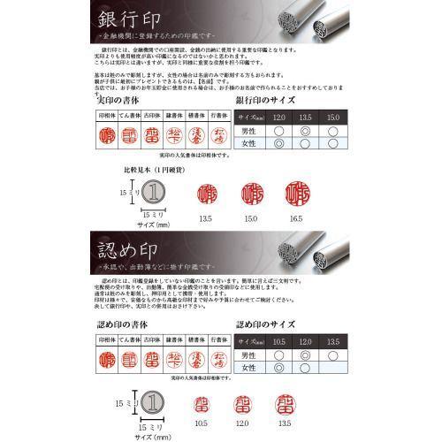 メール便送料無料 10.5ミリチタン 印鑑 認め印に最適なサイズのはんこ 銀行印にも|ogawahan|02