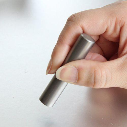 メール便送料無料 10.5ミリチタン 印鑑 認め印に最適なサイズのはんこ 銀行印にも|ogawahan|03