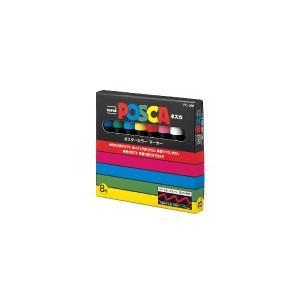 三菱鉛筆 POSCA(ポスカ) 中字丸芯/8色セット PC-5M8C|ogawahan
