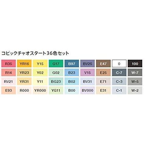 1月6日発送開始 コピック コピックチャオ スタート 36色セット|ogawahan|02