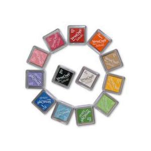 スタンプ台   布にも押せます  バーサークラフト 5個セット 色は選べます  布用 ogawahan