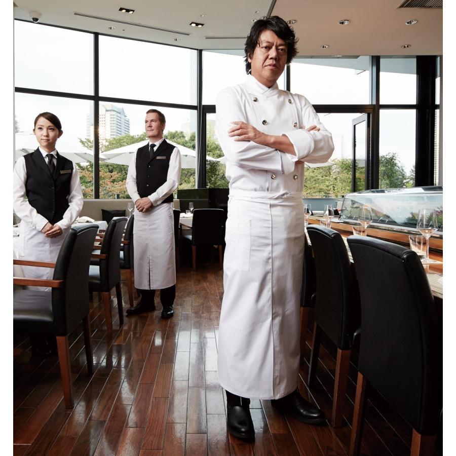コックコート お洒落 ホワイト 男女兼用 SS〜4Lサイズ 厨房用衣料、調理服
