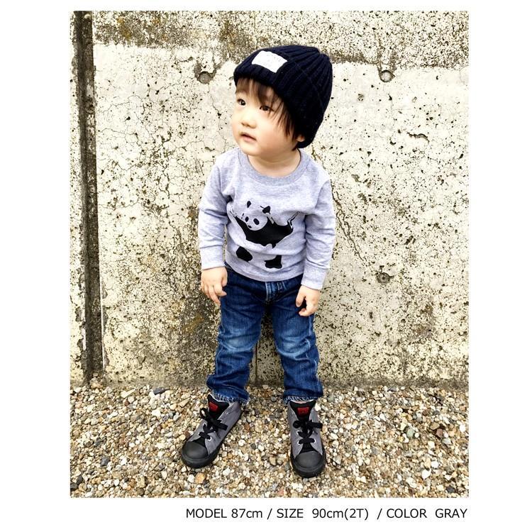 【キッズ】バンクシー パンダ 「BANKSY」「DESTROY RACISM PANDA」リブ ロンT 長袖Tシャツ|oguoy|02