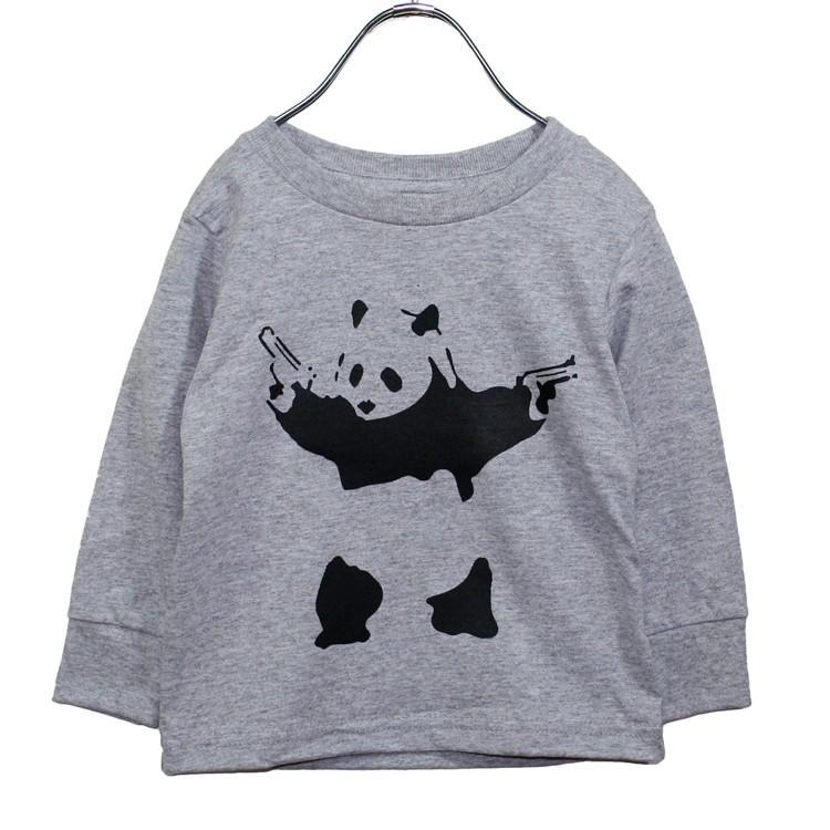 【キッズ】バンクシー パンダ 「BANKSY」「DESTROY RACISM PANDA」リブ ロンT 長袖Tシャツ|oguoy|03