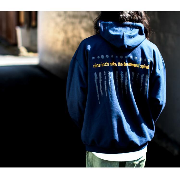 NINE INCH NAILS「THE DOWNWARD SPIRAL」ナインインチネイルズ フーディー バンドTシャツ インダストリアル オルタナ 90s 裏起毛|oguoy|16