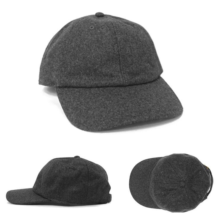 NEWHATTAN ウールブレンド ローキャップ 無地 [ニューハッタン] ユニセックス 帽子 6パネル サーフ スケート スケーター アメカジ カジュアル WOOL CAP|oguoy|02