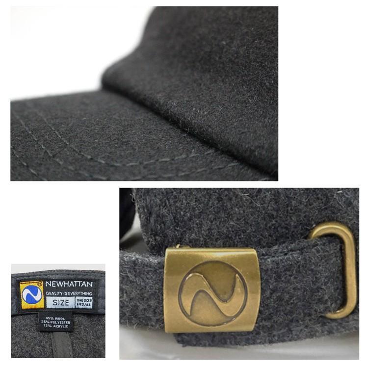 NEWHATTAN ウールブレンド ローキャップ 無地 [ニューハッタン] ユニセックス 帽子 6パネル サーフ スケート スケーター アメカジ カジュアル WOOL CAP|oguoy|03