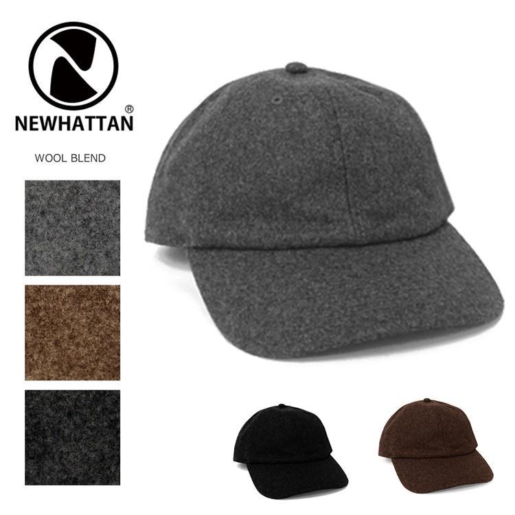 NEWHATTAN ウールブレンド ローキャップ 無地 [ニューハッタン] ユニセックス 帽子 6パネル サーフ スケート スケーター アメカジ カジュアル WOOL CAP|oguoy|06