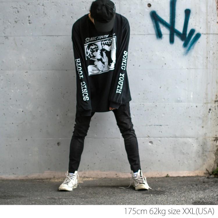 Sonic youth 「GOO 」「ソニックユース」 「オルタナ グランジ 」 ロンT 長袖Tシャツ 袖プリント オーバーサイズ BIG SIZE|oguoy|07