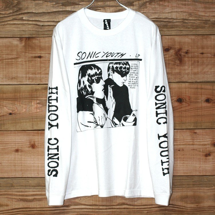 Sonic youth 「GOO 」「ソニックユース」 「オルタナ グランジ 」 ロンT 長袖Tシャツ 袖プリント オーバーサイズ BIG SIZE|oguoy|08