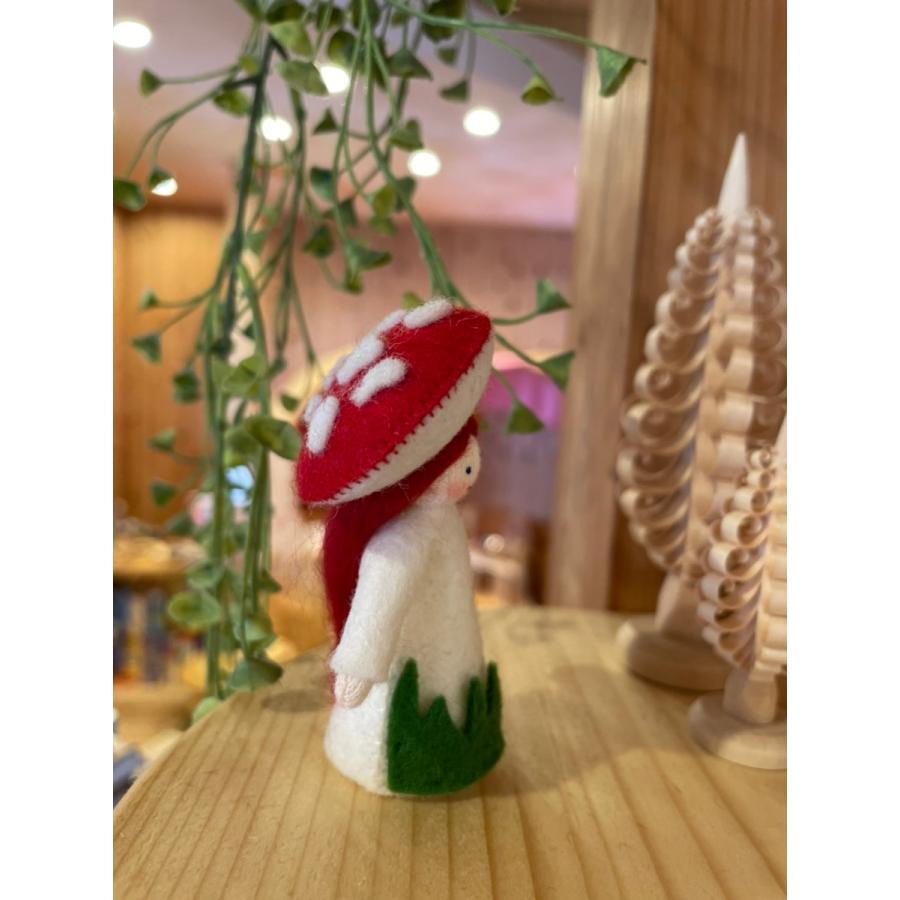 【春の妖精2021】フラワーフェアリー・赤いきのこの女の子 ホワイト  アンブロシウス|ohisamaya|02
