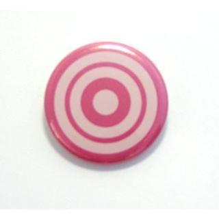 缶バッジ32mm 弓道霞的デザインPINK|ohmi-rakuichi