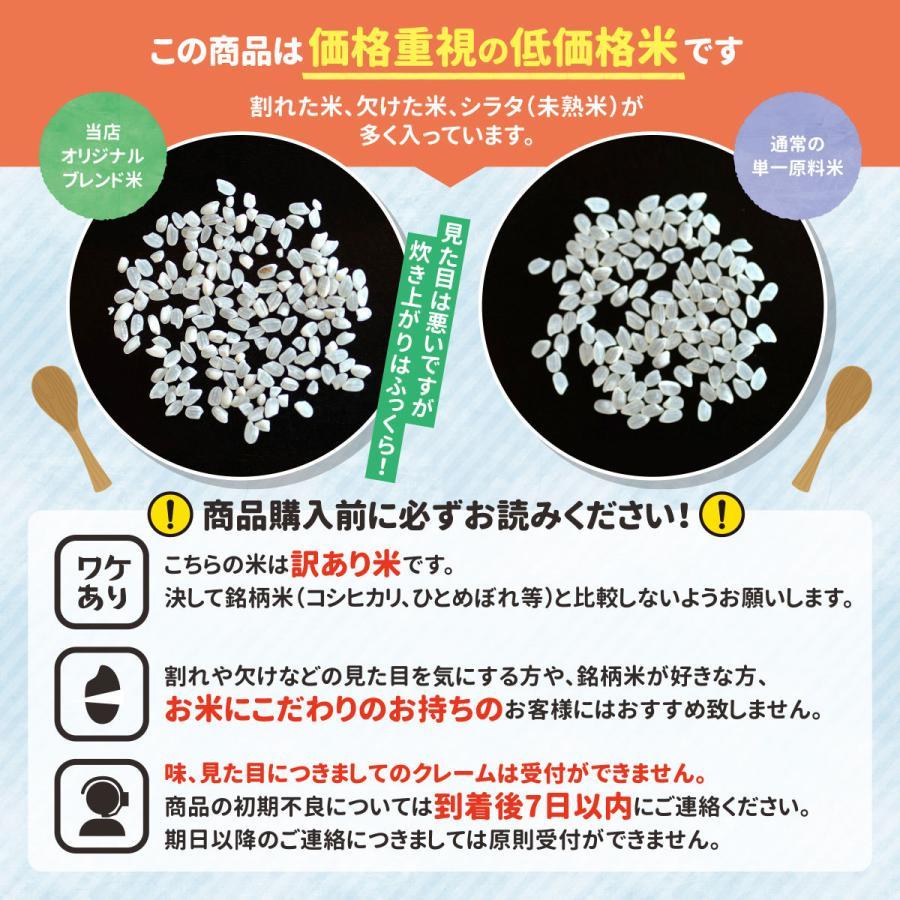 お米 10kg ( 5kg ×2袋)  送料無料 安い 白米 令和2年産 国産米 ブレンド米 家庭応援米 価格重視 質より量(限定)雑穀プレゼント ohnoshokuryou-shop 02