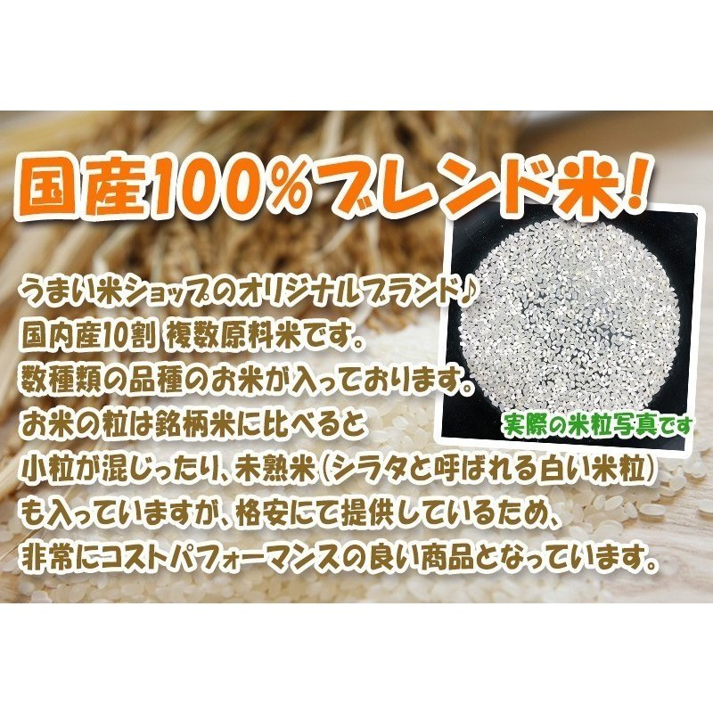 お米20kg 国産米(5kg×4) 家庭応援米 安い 価格重視 質より量をお求めの方へ ohnoshokuryou-shop 03