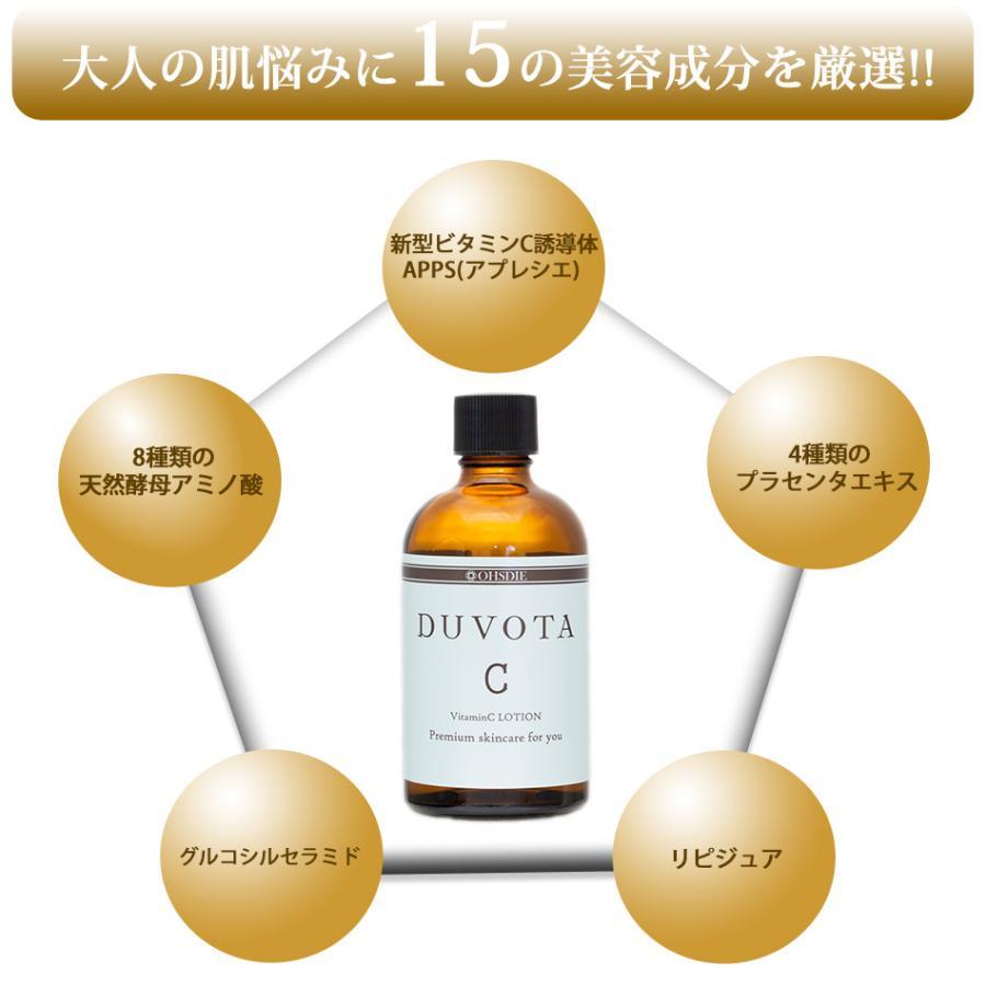 初回限定 新型ビタミンC誘導体 化粧水 DUVOTA ドゥボータ Cローション アスコルビン酸 APPS プラセンタ 毛穴 大人ニキビ 対策 イオン導入 美顔器 おすすめ|ohsdie|03