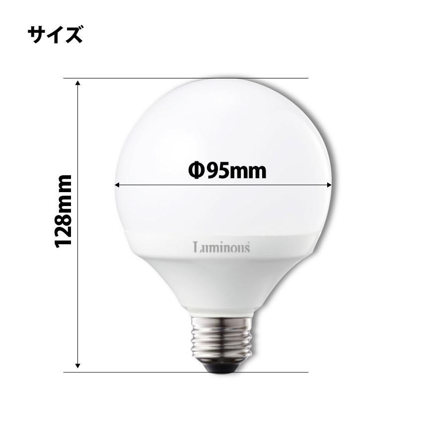 【111876】ボール型LED電球 60W形  ルミナス8.0W-E26 電球色 859lm oibby 03