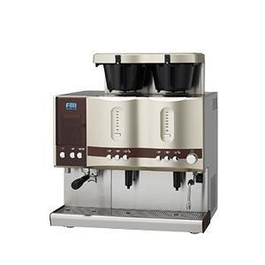 CT-251 コーヒーマシン エスプレッソ ドリップ2連タイプ エフエムアイ カフェトロン 幅664奥行565