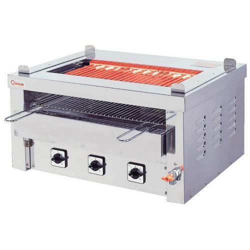 幅890 奥行580 押切電機 卓上型電気グリラー 両面焼タイプ 給排水口付 G-15TW