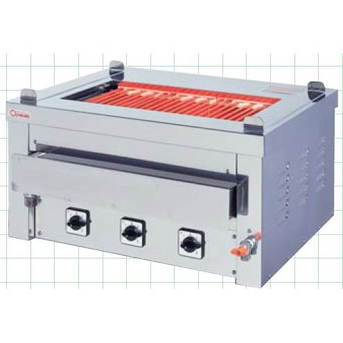 幅1020 奥行630 押切電機 卓上型電気グリラー 万能タイプ 給排水口付 G-21T
