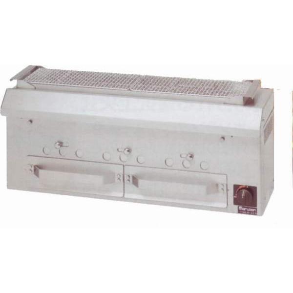 マルゼン 焼物器 炭火 下火式焼物器 「本格炭焼き」火起しバーナー付 串焼き用 MCK-093