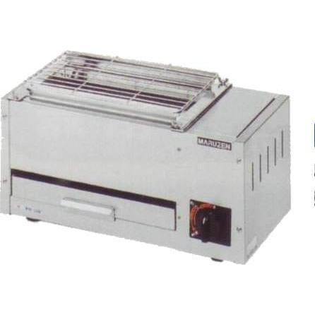 マルゼン 焼物器 ガス 下火式焼物器 「炭焼き」熱板タイプ 兼用型 MGK-202B
