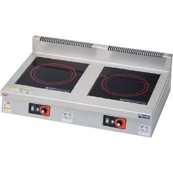マルゼン IHクリーンコンロ卓上型 3kW+3kW MIH-33C