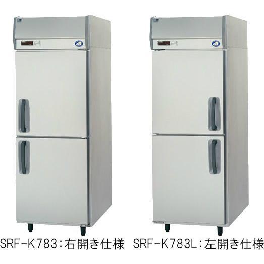 幅745*奥行800 容量636L パナソニック 冷凍庫 SRF-K783